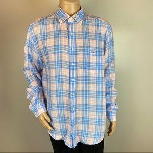 Vineyard Vines Classic Fit Tucker Shirt 100% Linen
